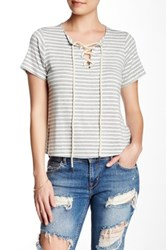 Lily White Lace Up Boxy Tee White