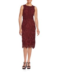 Erin Fetherston Sleeveless Lace Sheath Dress Aubergine