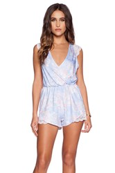Oh My Love Floral Playsuit Blue
