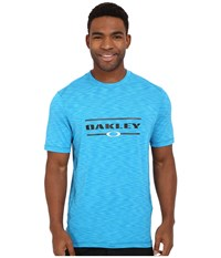 Oakley Melange Short Sleeve Rashguard Pacific Blue Men's T Shirt