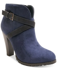 Two Lips Too Lizzy Booties Women's Shoes Navy