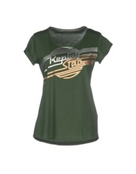 Replay T Shirts Dark Green