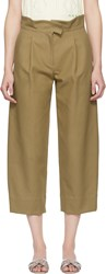 Carven Beige Cropped Trousers