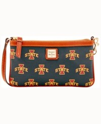 Dooney And Bourke Iowa State Cyclones Large Wristlet Maroon
