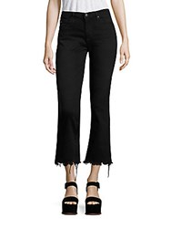 Ag Adriano Goldschmied Jodi High Rise Frayed Hem Jeans Black