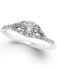 No Vendor Diamond Promise Ring In Sterling Silver 1 4 Ct. T.W.