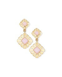 Miseno 18K Gold And Pink Opal Drop Earrings