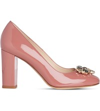 Lk Bennett Tonnia Patent Leather Courts Pin Dark Pink