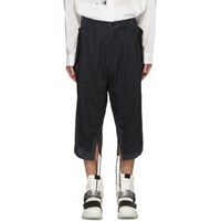 Julius Black Coated Twill Trousers
