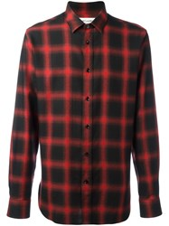 Saint Laurent Classic Checked Shirt Red