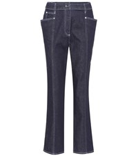Thierry Mugler High Rise Cropped Jeans Blue