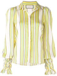 Alexis Catina Striped Shirt Yellow