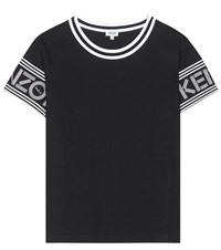 Kenzo Printed Cotton T Shirt Black