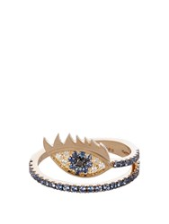 Delfina Delettrez Diamond Sapphire And Yellow Gold Ring