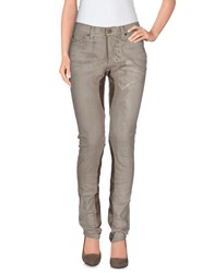 Superfine Denim Denim Trousers Women Sand