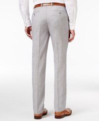 Sean John Men's Big And Tall Classic Fit Silver Gray Sharkskin Suit Pants