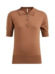 Extreme Cashmere No. 93 Cashmere Blend Polo Sweater Tan
