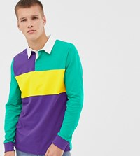 Another Influence Tall Rugby Long Sleeve Top Purple