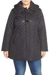 Plus Size Women's Ellen Tracy Toggle Closure Quilted A Line Coat
