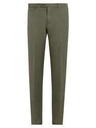 Brunello Cucinelli Casual Cotton Chino Trousers Green