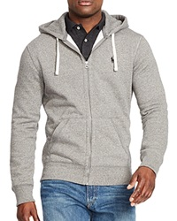 Polo Ralph Lauren Classic Full Zip Fleece Hoodie Alaskan Heather