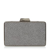 Head Over Heels Bamby Reprile Box Clutch Bag Grey