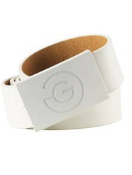 Galvin Green Wells Leather Belt White
