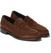 Tom Ford Suede Penny Loafers Brown