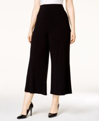 Alfani Plus Size Crepe Pull On Culotte Pants Only At Macy's Deep Black
