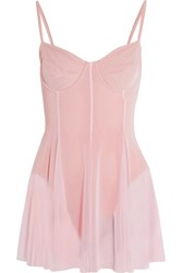 Norma Kamali Stretch Tulle Swimsuit Pastel Pink