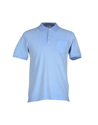 Prada Sport Topwear Polo Shirts Men Sky Blue