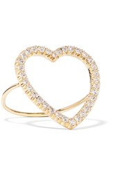 Jennifer Meyer Open Heart 18 Karat Gold Diamond Ring 6