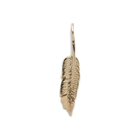 Jennifer Fisher For J.Crew 10K Gold Feather Charm Yellow Gold
