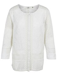 Fat Face Penny Broderie Blouse White