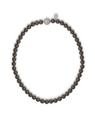 Majorica 8Mm Tahitian Pearl And Cubic Zirconia Necklace Black