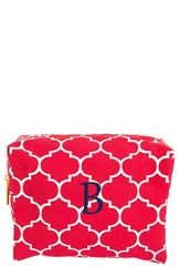 Cathy's Concepts Monogram Cosmetics Case Coral B