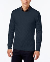 Tasso Elba Men's Big And Tall Chevron Sweater Only At Macy's Inky Night Heather