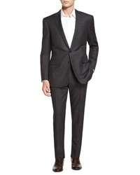 Ralph Lauren Black Label Anthony Birdseye Two Piece Wool Suit Charcoal