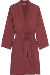 Skin Pima Cotton Jersey Robe Plum