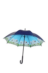 Leighton Daisy Auto Open Umbrella Blue