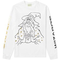Aries Long Sleeve Wizards Tee White