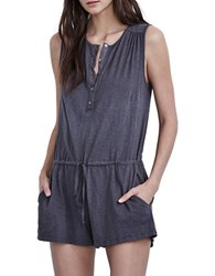 Velvet By Graham And Spencer Textured Sleeveless Jumpsuit Battle Grey