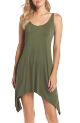 Lucky Brand Women's Take Cover Cover Up Dress Olive