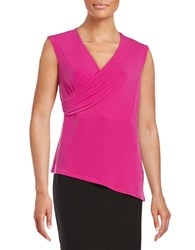 T Tahari Kinley Sleeveless Surplice Top Pink