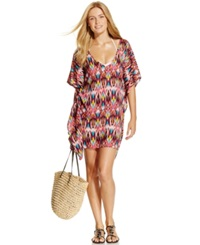 Kenneth Cole Short Sleeve Ikat Tunic Cover Up Women's Swimsuit