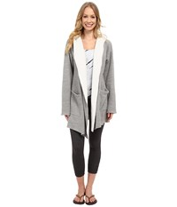 Hard Tail Slouchy Wrap Hoodie Jacket Heather Grey Women's Sweatshirt Gray