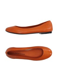 Cnc Costume National Costume National Footwear Ballet Flats Women Orange