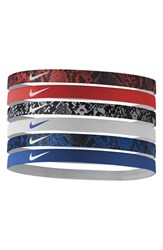 Nike Sport Headbands Red 6 Pack Crimson White