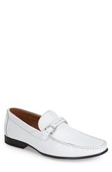 Steve Madden 'Winlock' Leather Bit Loafer Men White Leather