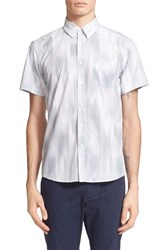Saturdays Surf Nyc Men's Saturdays Nyc 'Esquina Moire' Trim Fit Short Sleeve Shirt